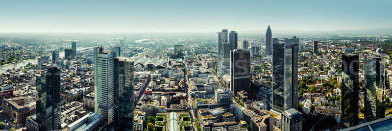 Panoramic view of Frankfurt am Main city, Germany Stock photo © amok