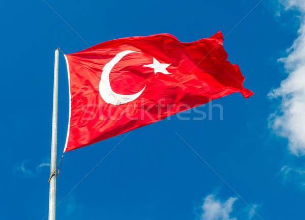 Сток-фото: флаг · Турция · Blue · Sky · луна · фон