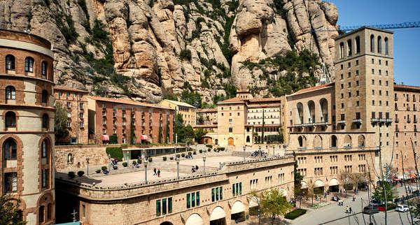 Barcelona Espanha espetacular montanhas mosteiro Foto stock © amok