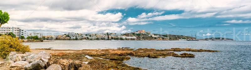 Panoramic view of Ibiza city and Mediterranean Sea. Spain Stock photo © amok