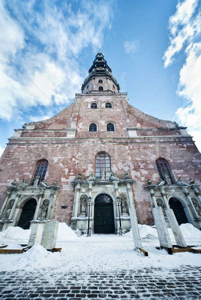 Kilise Riga Letonya Bina şehir inşaat Stok fotoğraf © amok