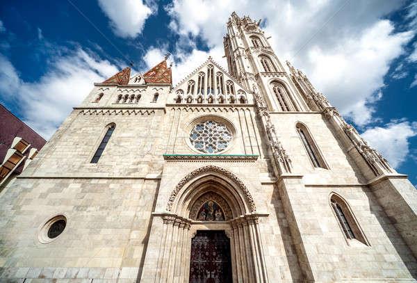 Facade of Matthias Church. Budapest, Hungary Stock photo © amok