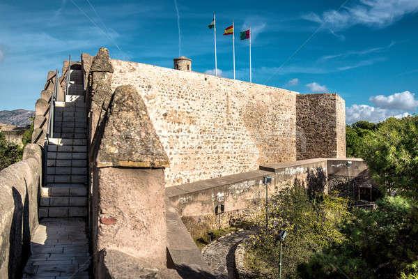 замок малага Испания здании знак флаг Сток-фото © amok