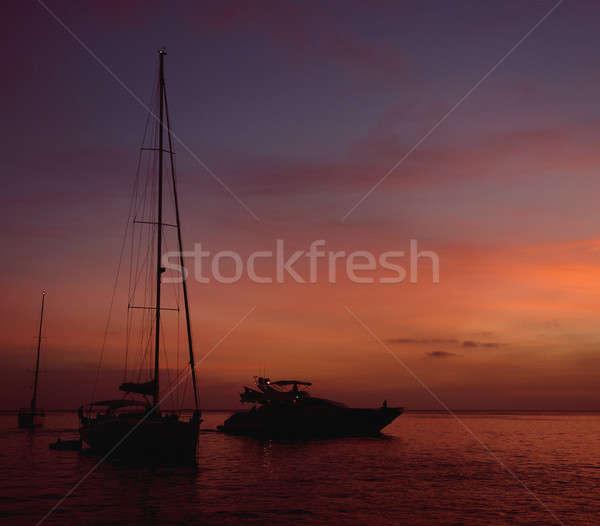 Sunset in Formentera. Balearic Islands. Spain Stock photo © amok