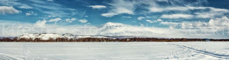 Panorama of Koryaksky volcano Stock photo © amok