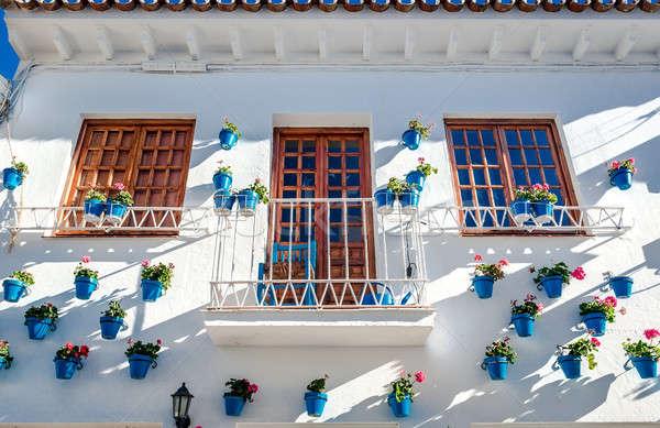 Typical spanish white village Stock photo © amok