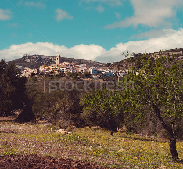 Picturesque Rossell town. Spain Stock photo © amok