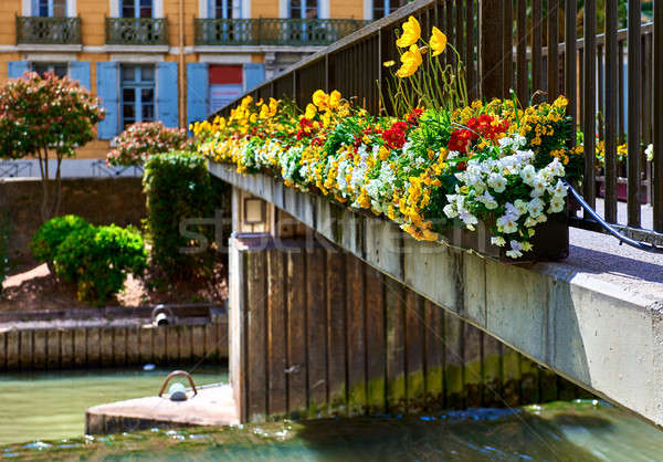 Footbridge across The Canal de la Robine in Narbonne city. Stock photo © amok