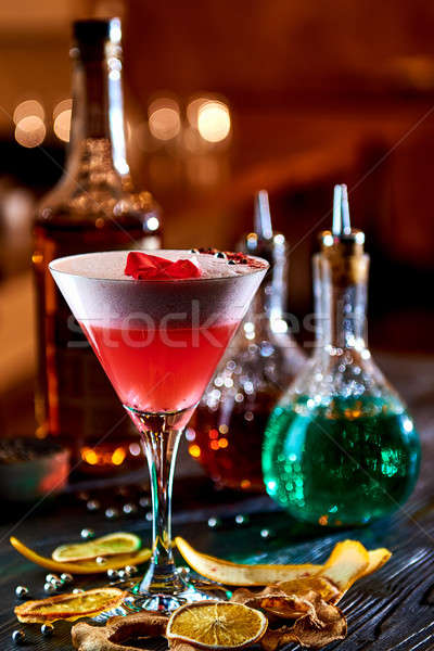 Alcoholic cocktail with whiskey and cranberry juice    Stock photo © amok