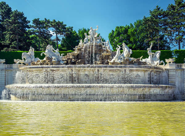The neptune fountain at the Schonbrunn Palace in Vienna, Austria Stock photo © amok