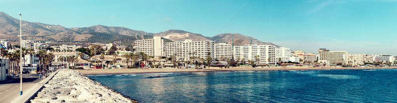 Beautiful day view of Benalmadena coast. Malaga, Spain Stock photo © amok
