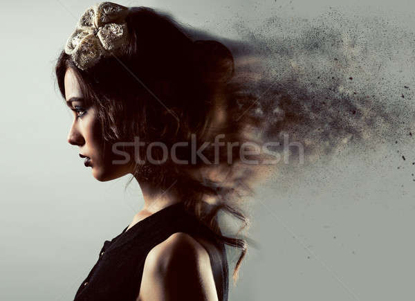 Profile of a gorgeous young lady, digitally altered Stock photo © amok
