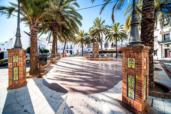 Plaza de Espana. Vejer de la Frontera, Spain Stock photo © amok