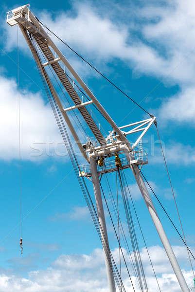 Barge crane over blue sky background Stock photo © amok