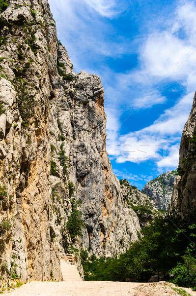 Manzaralı dağ manzara park Hırvatistan bahar Stok fotoğraf © amok