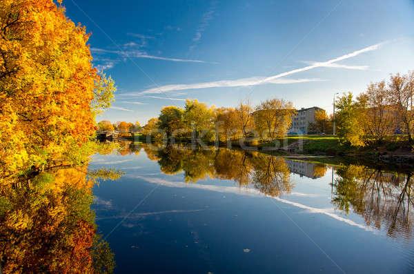 Pittoreske najaar landschap Riga Letland hemel Stockfoto © amok