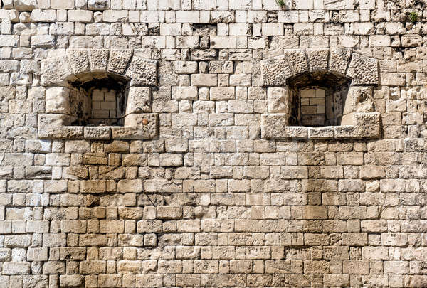 Arrowslit. Citadel. Budapest, Hungary Stock photo © amok