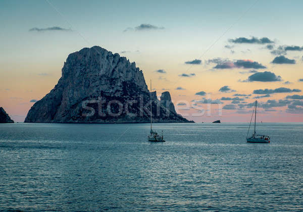 Picturesque sunset over mysterious island of Es Vedra Stock photo © amok