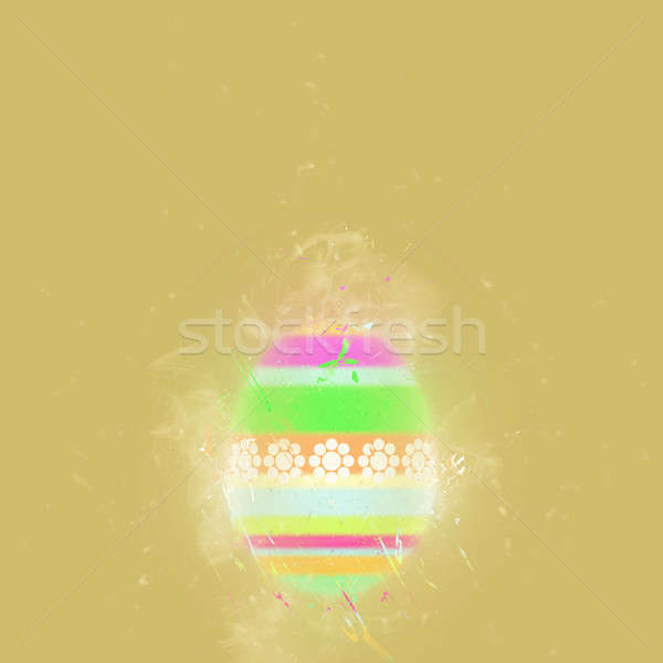 Easter egg on a beige background. Digital art Stock photo © amok