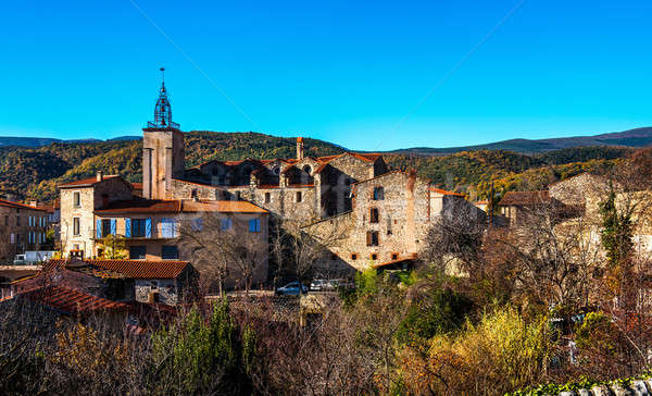 Ancient village in the Pyrenees-Orientales, southern France Stock photo © amok