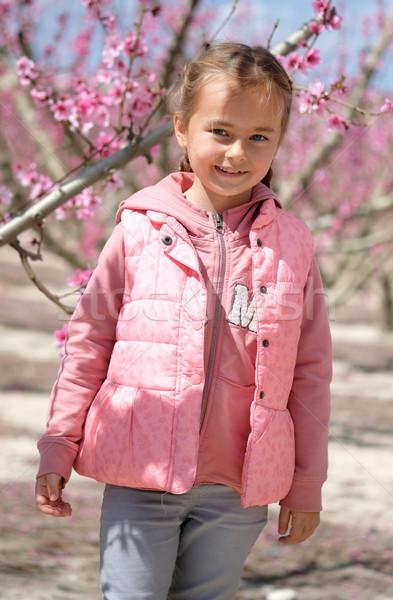 девочку фрукты деревья Испания регион Сток-фото © amok