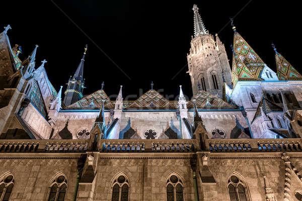 Matthias Church at night. Budapest, Hungary Stock photo © amok