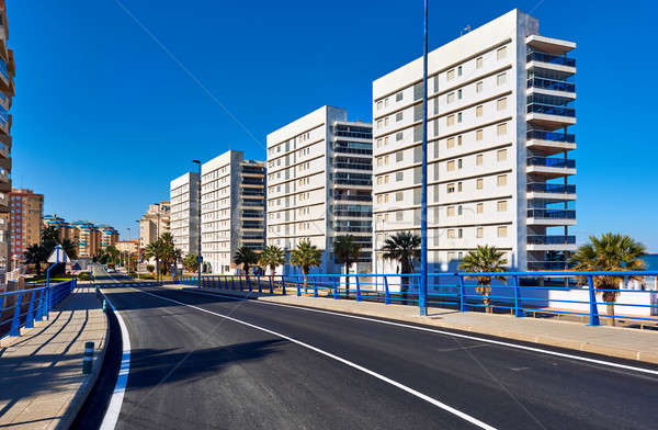 Empty street of La Manga. Spain Stock photo © amok
