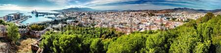 Panoramic view of Malaga city. Andalusia. Spain Stock photo © amok