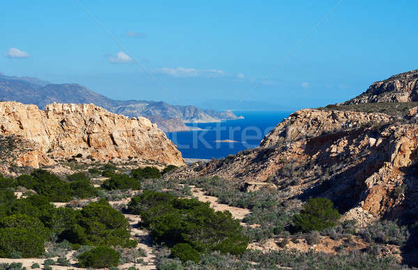 Rocky coastline of Cabo de Gata-Nijar Natural Park. Spain Stock photo © amok