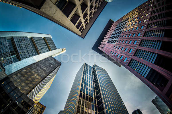 Skyscrapers of Frankfurt am Main, Germany Stock photo © amok
