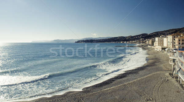 Nervi, former fishing village in Italy Stock photo © amok