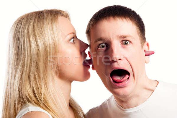 ума контроль женщину языком человека Сток-фото © amok