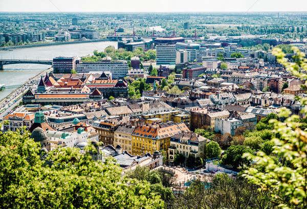View of Buda, western part of Budapest. Hungary Stock photo © amok