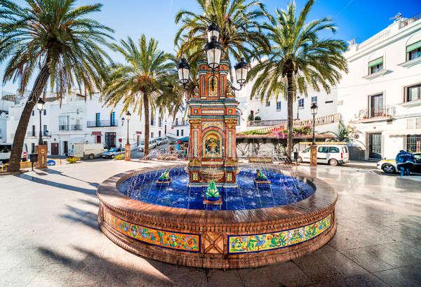 The main square in Vejer de la Frontera is Plaza de Espana, feat Stock photo © amok