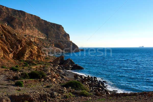 Rocky coastline of Almeria. Southern Spain Stock photo © amok