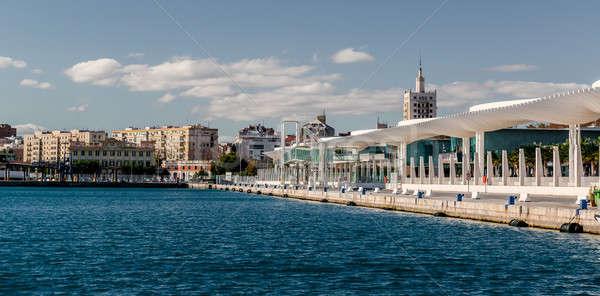 Bord de l'eau promenade malaga Espagne ciel paysage Photo stock © amok