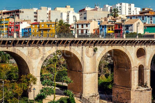 Multicolored town of Villajoyosa , Costa Blanca. Spain Stock photo © amok