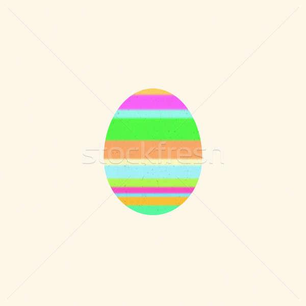 Multicolore easter egg beige digitale arte Pasqua Foto d'archivio © amok