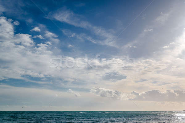 Bright cloudy sky and horizon over the sea Stock photo © amok
