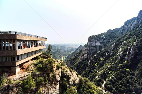 Spektakularny góry klasztor Święty mikołaj Barcelona Hiszpania Zdjęcia stock © amok