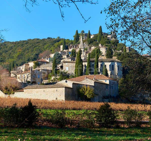 La dorp Frankrijk pittoreske zuidelijk Stockfoto © amok