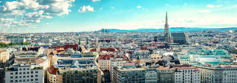 Panoramic view of Vienna city. Austria Stock photo © amok