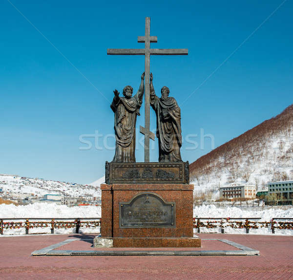 The monument of the holy apostles Peter and Paul Stock photo © amok