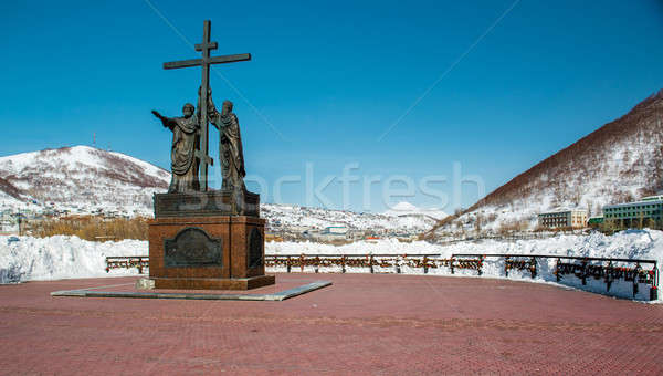 Stock photo: The monument of the holy apostles Peter and Paul