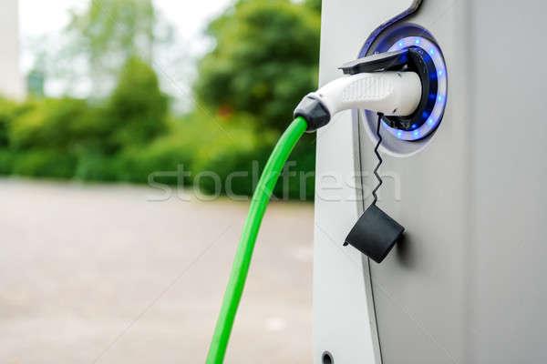 Electric vehicle charging station Stock photo © amok