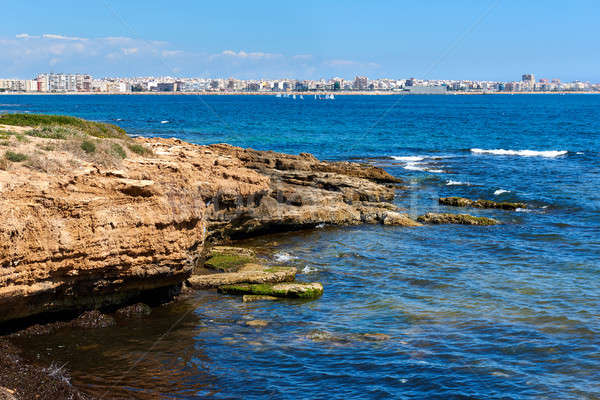 Rocky coastline of Torrevieja. Southern Spain Stock photo © amok