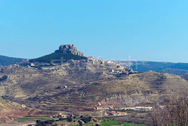 Breathtaking view of Morella. Spain Stock photo © amok