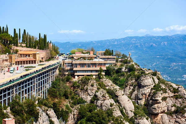 The Benedictine abbey of Santa Maria de Montserrat Stock photo © amok