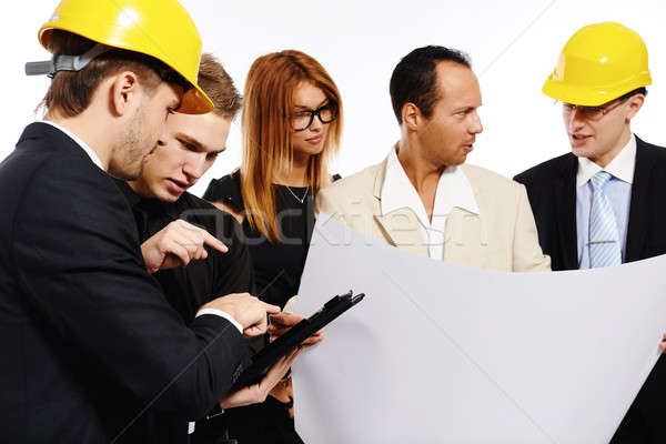 Construction team at business meeting. Studio shot Stock photo © amok