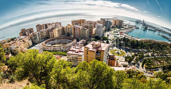 панорамный мнение малага порт Испания здании Сток-фото © amok